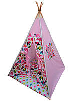 """Детский игровой домик, вигвам, палатка, шатер, шалаш, вігвам, дитяча палатка """"Индийские слоны"""""""
