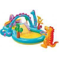 Надувной детский игровой центр - бассейн Intex 57135 Планета динозавров
