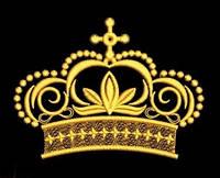 Дизайн машинной вышивки короны 138 х 102 мм для вышивки на халатах и готовых изделиях