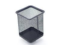 Стакан для ручек (Axent, 80х80х100мм, металическая, чёрная, квадратн., 2111-01-A)