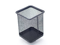 Стакан-подставка для ручек Axent 80х80х100мм металическая чёрная квадратн 2111-01-A