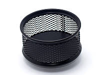 Подставка для скрепок (Axent, 80x80x40мм, металическая, чёрная, 2113-01-A)