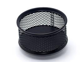 Підставка для скріпок Axent 80х80х40мм метал чорна 2113-01-A