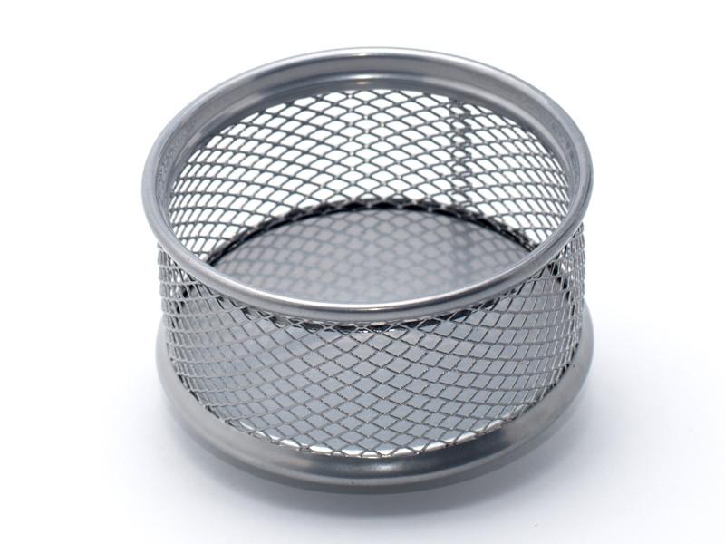 Подставка для скрепок Axent 80x80x40мм серебро металл (2113-03-A)