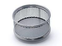 Подставка для скрепок (Axent, 80x80x40мм, металическая, серебрянная, 2113-03-A)