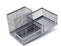 Подставка органайзер (Axent, 203x105x100мм металическая, серебрянная, 2116-03-A)