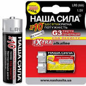 Батарейка алкалиновая Наша сила LR6 EXTRA G3 AA