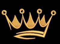 Дизайн машинной вышивки короны 120 х 65 мм для вышивки на халатах и готовых изделиях