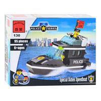 Конструктор Brick 130 Полицейский катер 95 деталей