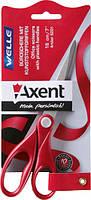 Ножницы канцелярские (Welle, Axent, 20 см, красные, 6202-06-А)