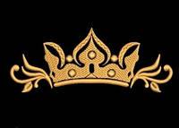 Дизайн машинной вышивки короны 150 х 60 мм для вышивки на халатах и готовых изделиях