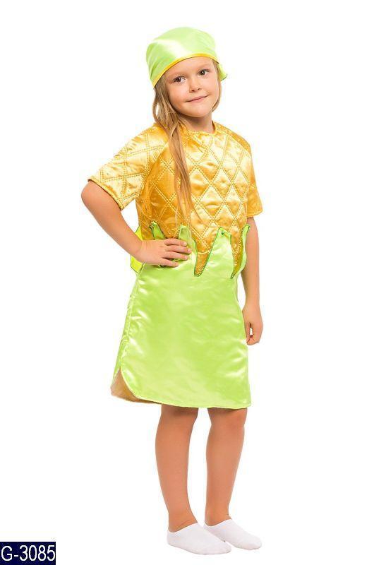 Карнавальный костюм КУКУРУЗКА, КУКУРУЗА для девочки 3,4,5,6,7,8 лет детский маскарадный праздник осени