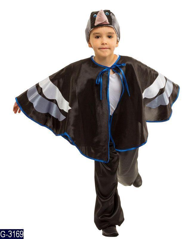 Детский карнавальный костюм ГРАЧ, СКВОРЕЦ для мальчика 4,5 ...