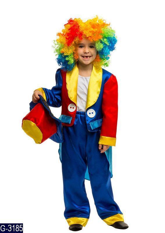 Карнавальный костюм КЛОУН для детей 6,7,8,9,10 детский маскарадный костюм КЛОУНА
