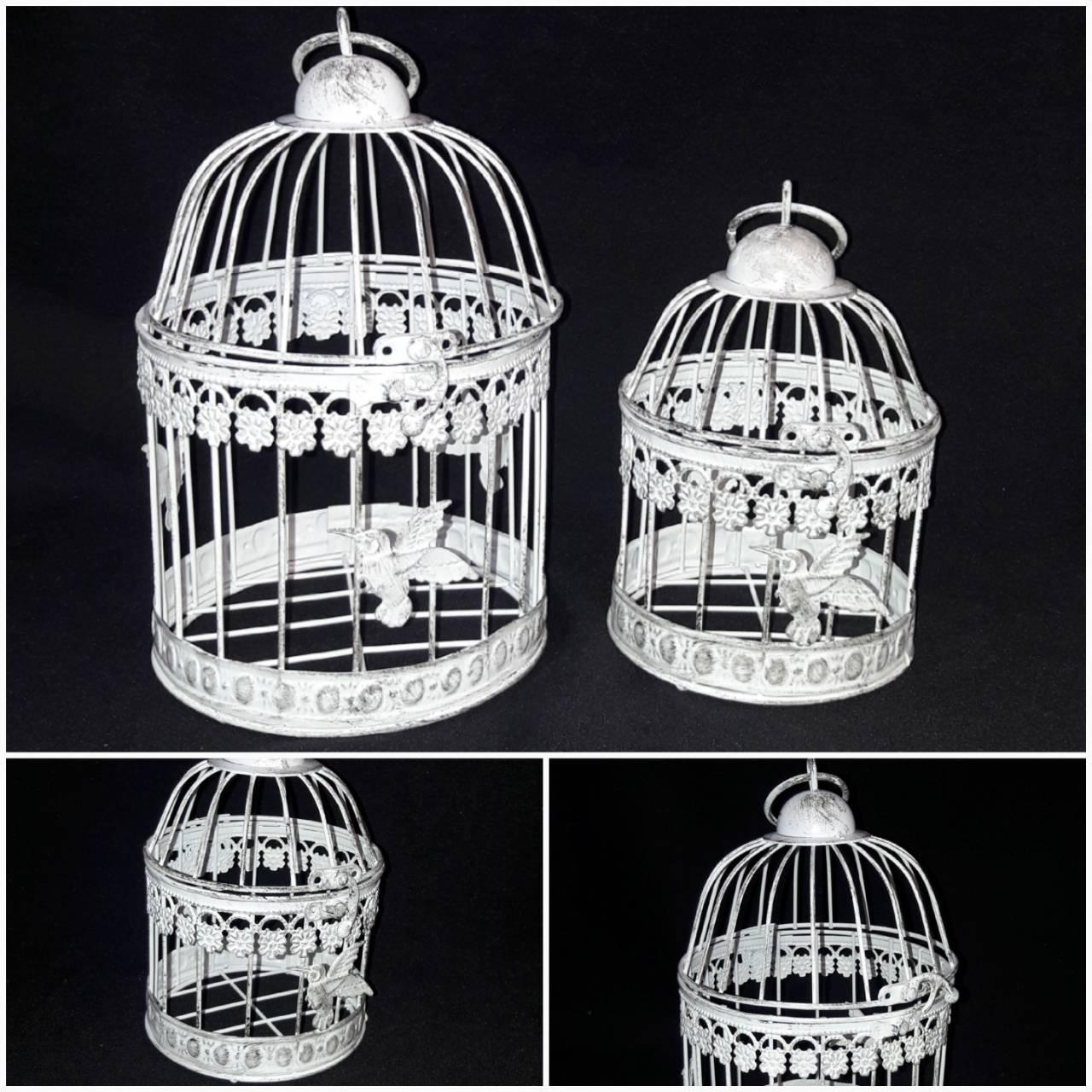 Декоративная клетка из металла для птичек, диам. 12 см., выс. 19 см, 225 гр.