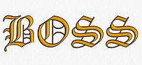 Дизайн машинной вышивки БОСС  200 х 55 мм для вышивки на халатах и готовых изделиях