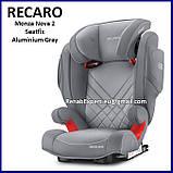 Комфортное Безопасное Автокресло Recaro Monza Nova 2 Seatfix Seat 15-36kg, фото 3
