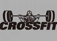 Дизайн машинной вышивки CrossFit 200 х 65 мм для вышивки на халатах и готовых изделиях