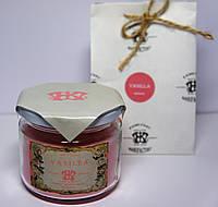 Арома свеча в банке подарочная ЭКО с ароматом Ванили 250гр (Д=8,3см Н=8см)