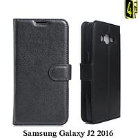 Чехол для Samsung J2 2016, с бампером, Premium, черный