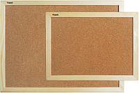Доска пробковая 45Х60см Axent деревянная рамка 9601-А
