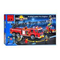 Конструктор Brick 908 Пожарная тревога (607 деталей)