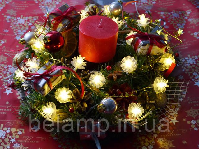 рождественский венок из шишками украина