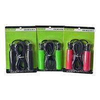 Скакалка Profi MS 0186  ЕВА ручки, 3 цвета