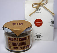 Арома свеча в банке подарочная ЭКО с ароматом Корицы 250гр (Д=8,3см Н=8см)