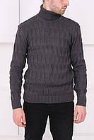 Мужской серый свитер с нашивками