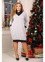 Женское платье бочонок Сигма / размер 48-72 большой размер