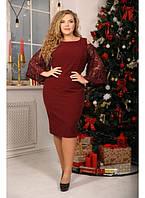 a2cd18c7a74 Женское нарядное модное платье Восхищение цвет марсала   размер 48-72  большой размер