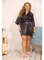 Женский атласный халат Джульетта / размер 48-72 / большие размеры
