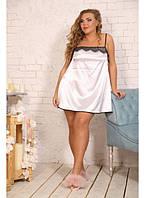 Женская ночная рубашка Страсть цвет белый / размер 48-72 / большие размеры