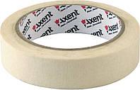 Лента клейкая Axent бумажная скотч малярный 24ммХ20м 3124-А