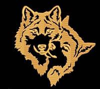 Дизайн машинной вышивки Влюбленные волки 161 х 159 мм для вышивки на халатах и готовых изделиях