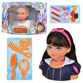Кукла Falca 13273  голова для макияжа и причесок, 2 вида, аксессуары,54-38,5-18см