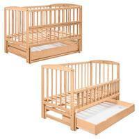 Кровать для детей 2550 (1шт) деревянная (бук), на шарнирах, откидная буковина, ящик, 120-60см