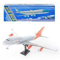 Самолет 747-400 (18шт) инер-й, на подставке, 68см, в кор-ке, 69,5-21,5-8см