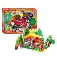 Настольный театр-игра 3D пазл Три медведя Vladi Toys VT1205-2305 на липучках