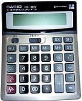 Деловой настольный калькулятор casio dm-1200v, металлическое покрытие, кнопки - пластик, двойное питание