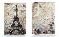 Кожаная обложка на паспорт Париж 156-155344