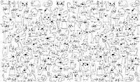 Обои-раскраски Веселые коты 60х100см 201-198488