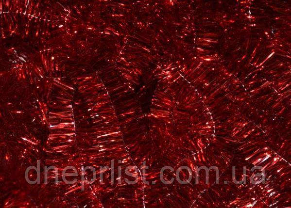 Мишура 2 см, красная, 2,60 м, фото 2
