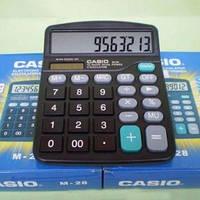 Калькулятор настольный casio m-28, двойное питание, 12-разрядный дисплей, память, автоотключение, 153*120 мм