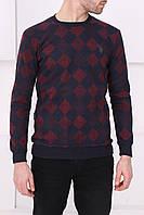 Мужской синий клетчатый свитер, фото 1