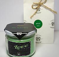 Арома свеча в банке подарочная ЭКО с ароматом Зеленого яблока 250гр (Д=8,3см Н=8см)