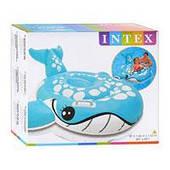 """Надувная игрушка-рейдер (плотик) Intex 57527 """"Синий кит"""" ( 160-152 см)"""