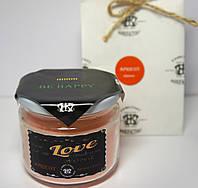 Арома свеча в банке подарочная ЭКО с ароматом Абрикоса 250гр (Д=8,3см Н=8см)