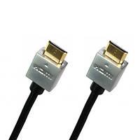 Кабель Comp HDMI - HDMI Ultra Slim v1.4, gold, 2 м